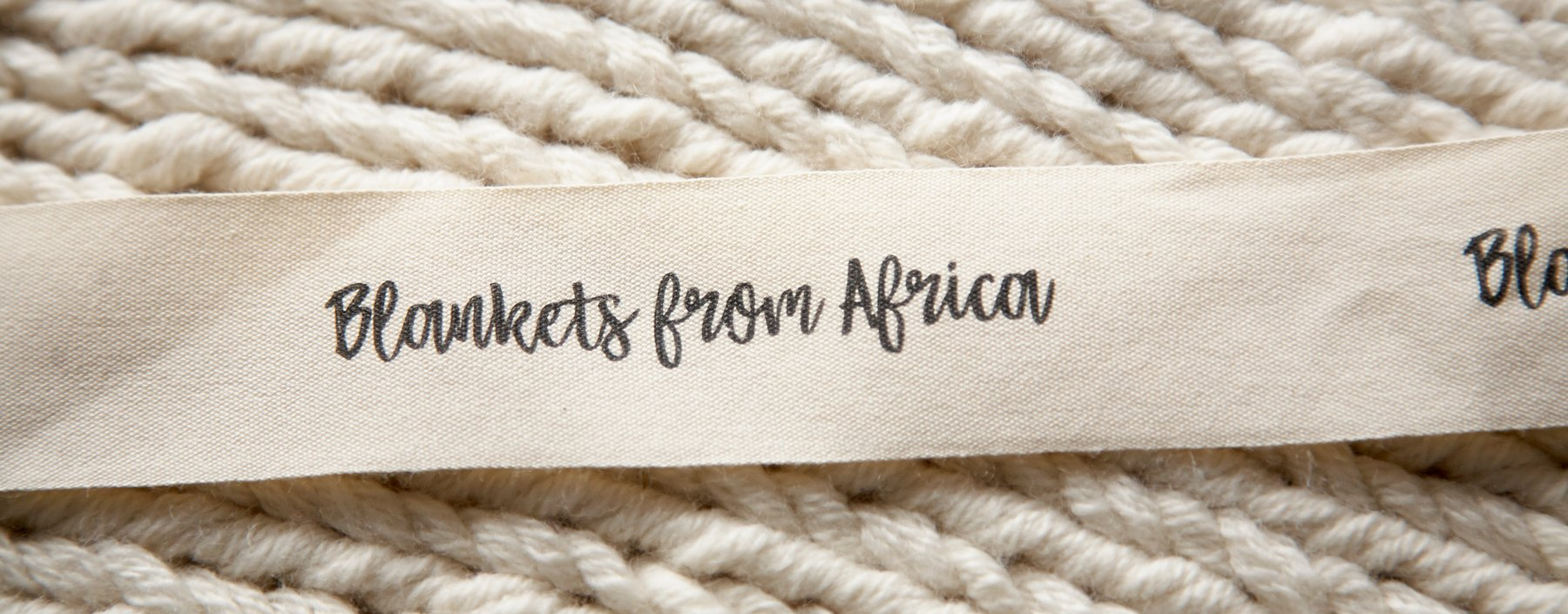 Blankets from Africa label